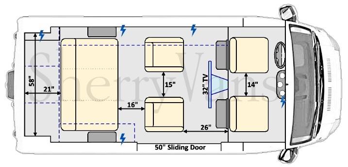 2017 Ram Promaster Sherry Vans 7 Passenger High Top