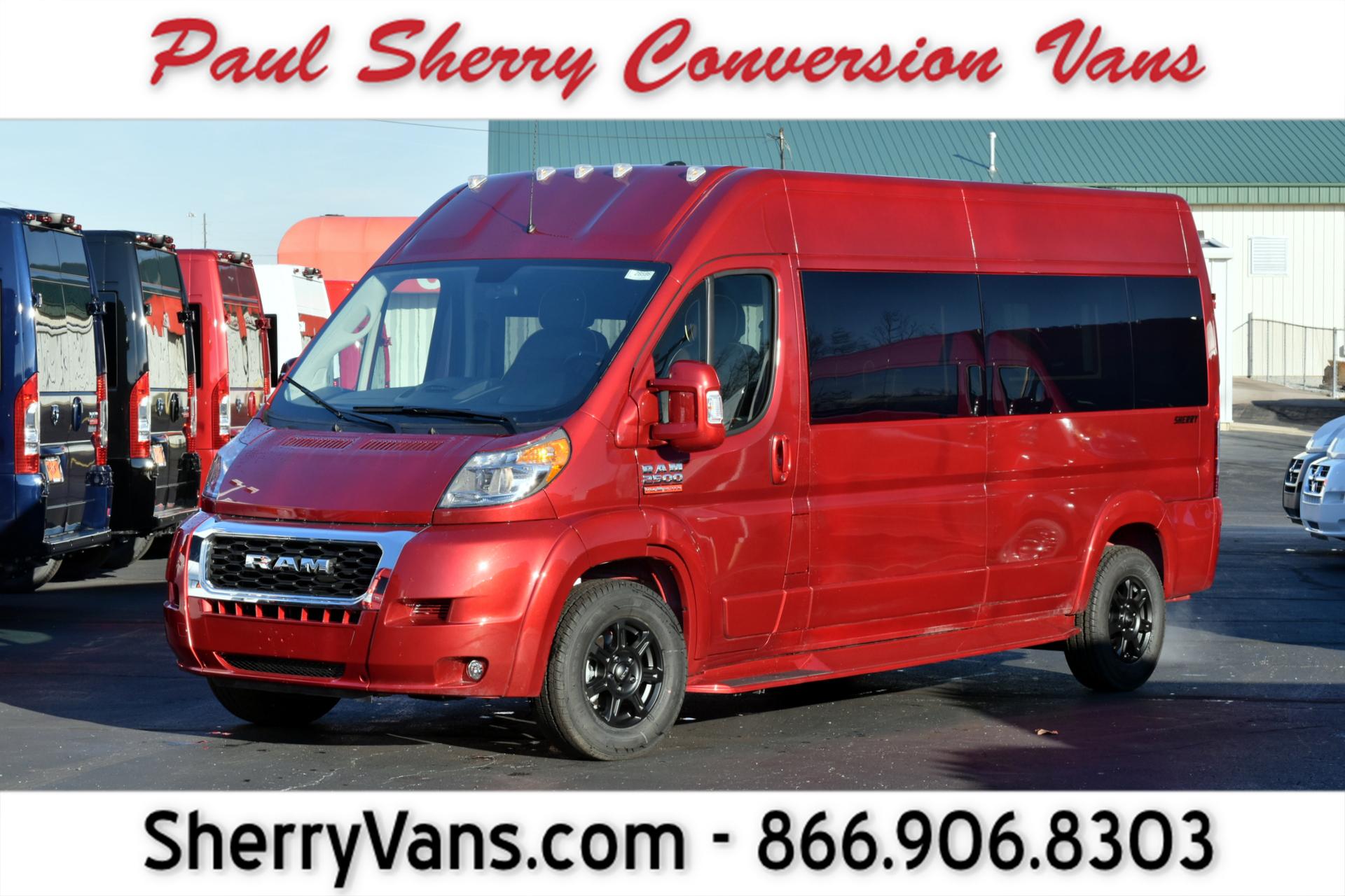 2019 Ram Conversion Van – Sherry Vans 9 Passenger | 28596T